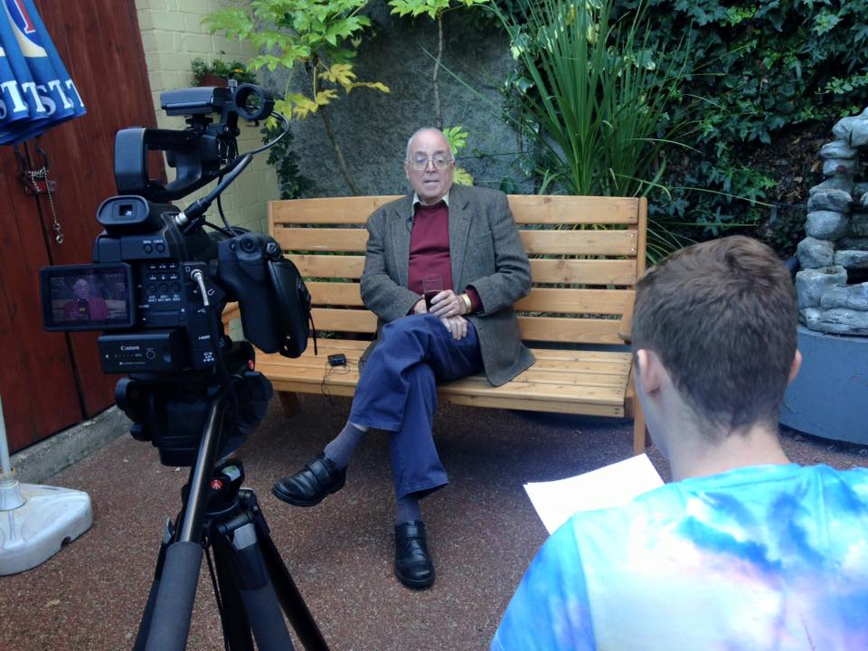 Filming Oral History Interview – Nottingham Pub