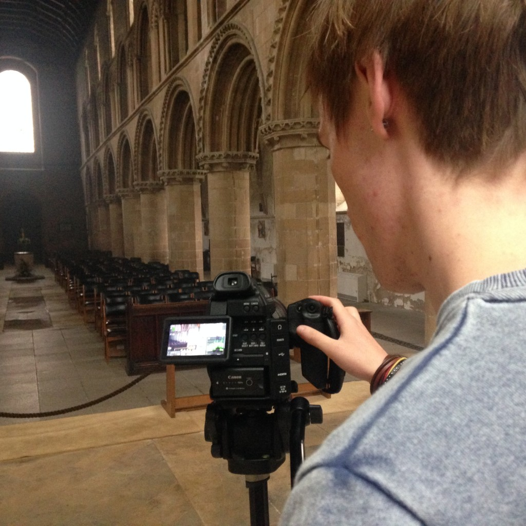 Filming Cutaways At Worksop Priory