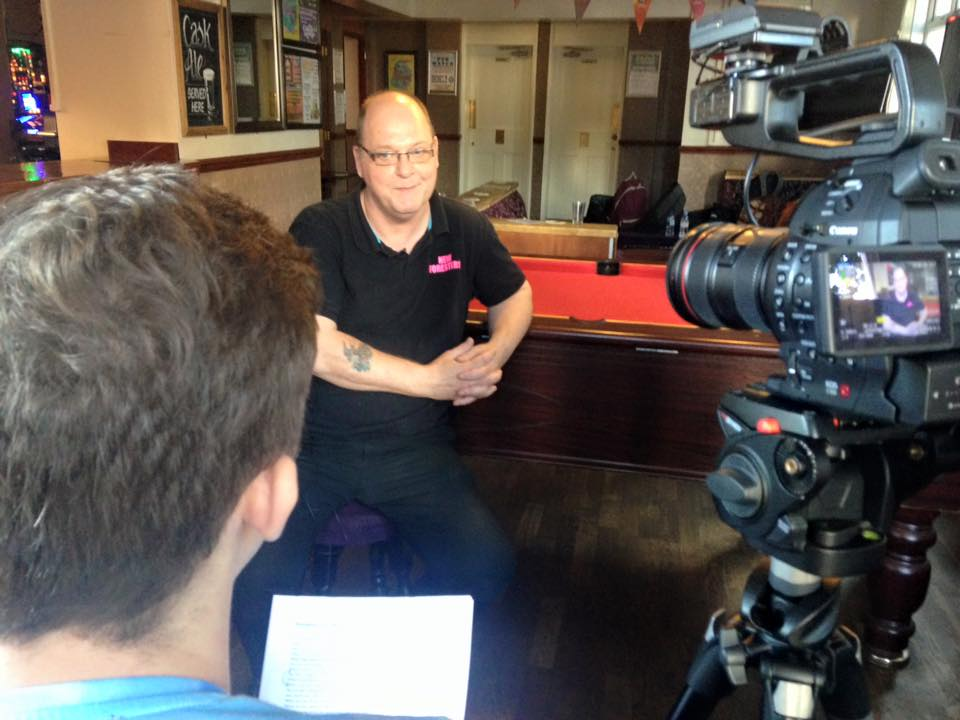 Oral History Interview Filming Nottingham Pub